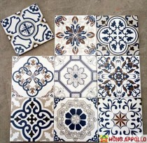 gạch hình vuông họa tiết trắng đen trang trí nhà bếp