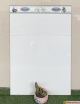 Gạch cao cấp giá rẻ 30x60 trắng trơn ốp tường phòng ngủ