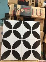 gạch bông đen trắng trang trí, gạch hoa văn cổ 30x30