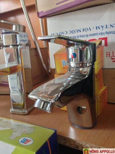 Bộ vòi lavabo nóng lạnh cao cấp 580n, bh 2 năm