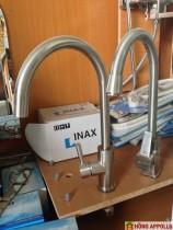 bộ vòi chậu rửa nóng lạnh 1,580n, bh 3 năm, inox 304
