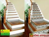 03 lý do nên chọn gạch bông lát cầu thang cho nhà ở, Gạch bông trang trí cầu thang