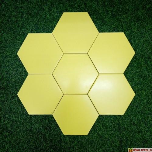 Gạch lục giác màu vàng lát nền sang lạ