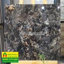 Gạch 6060 đá bóng kính đen unis -HỒNG APPOLLO