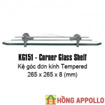 Kệ kính góc 1 tầng Kendax KG151