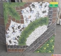 Gạch lát nền sân vườn 6060 in 3D chống trơn trượt