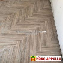 Gạch giả gỗ cao cấp màu nâu xám 15x90 sang trọng