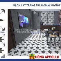 Gạch bông cổ giá rẻ trang trí khách sạn-gạch 30x30 Cao lãnh-Đồng tháp