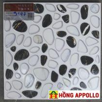 gạch lát nền nhà tắm giá rẻ, 30x30 đen trắng hong appollo