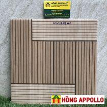 gạch lát nền nhà tắm 3d, 30x30 vân gỗ  hong appollo