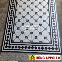 Những mẫu gạch thảm bông cổ mới nhất, gạch thảm bông hoa văn 2021, thảm đen trắng 3d