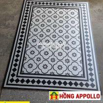 Những mẫu gạch thảm bông cổ mới nhất, gạch thảm bông hoa văn 2021, thảm đen trắng 3d-4d